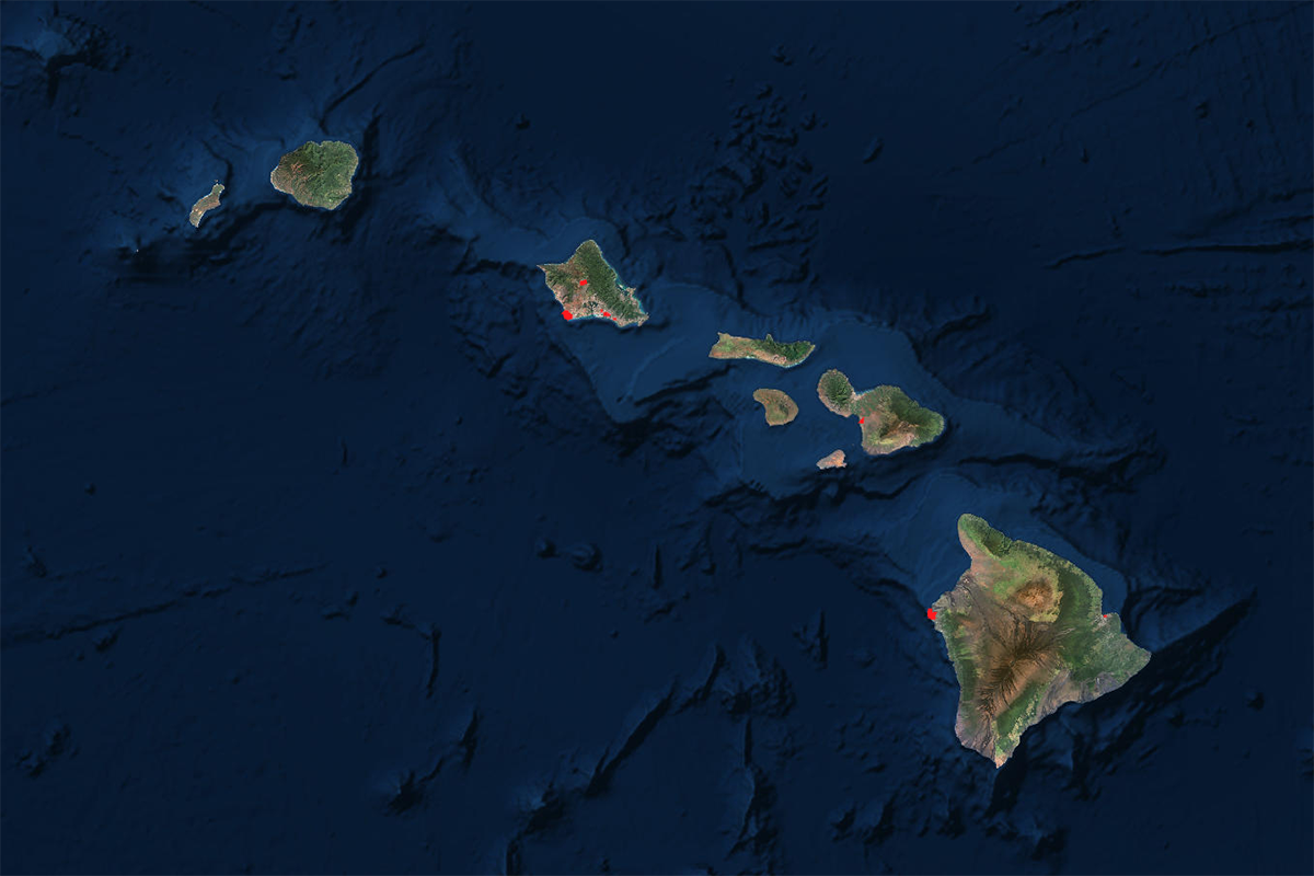 Hawaii FTZ Locations Map