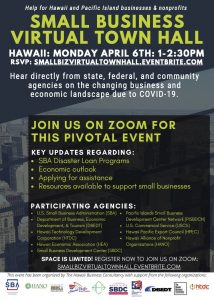 Flyer - Hear directly from state, federal, and community agencies on the changing business and economic landscape due to COVID-19.